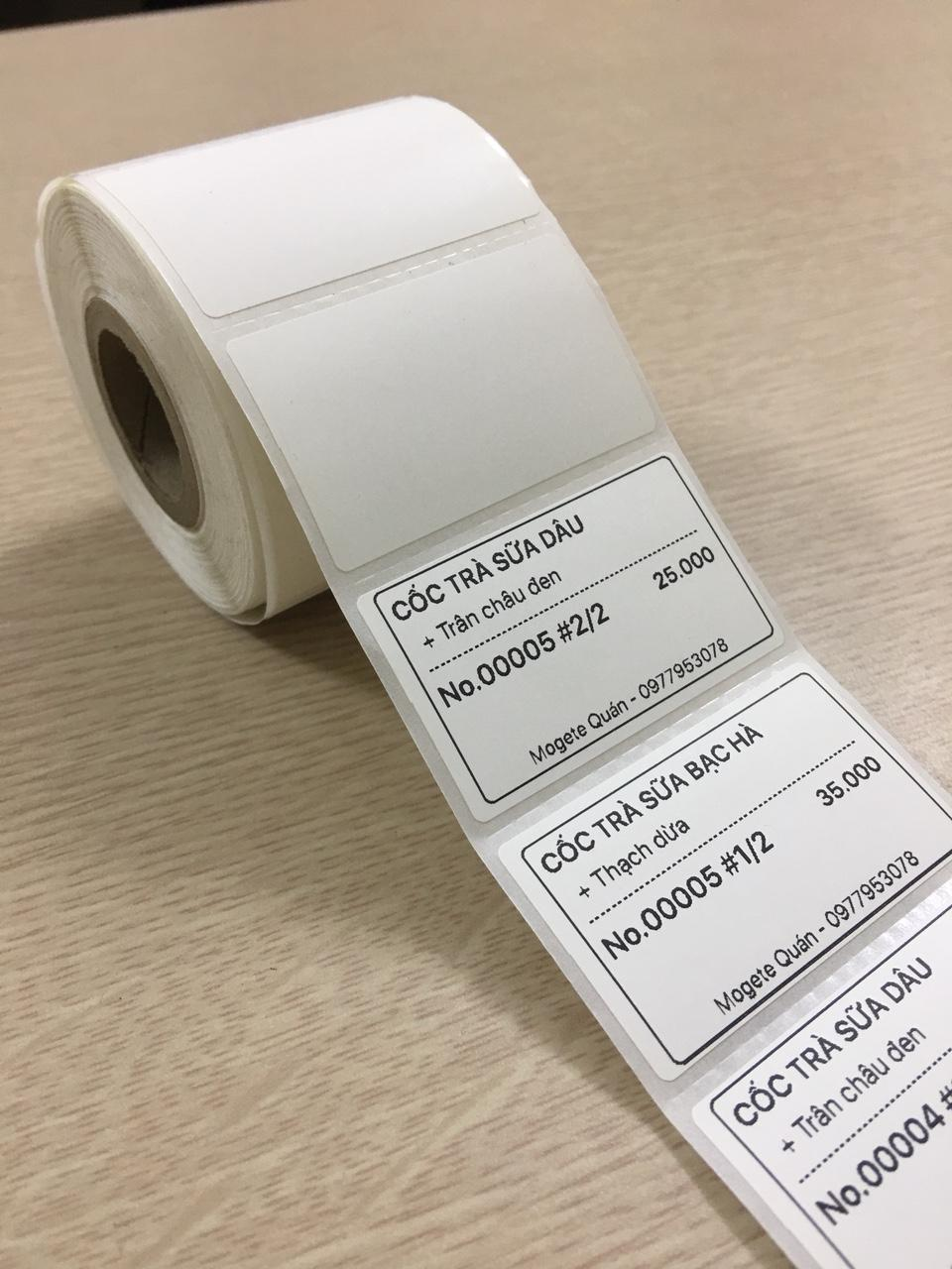 Tem decal trà sữa (50x30)mm